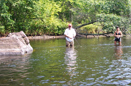Fishing on the Namekagon River
